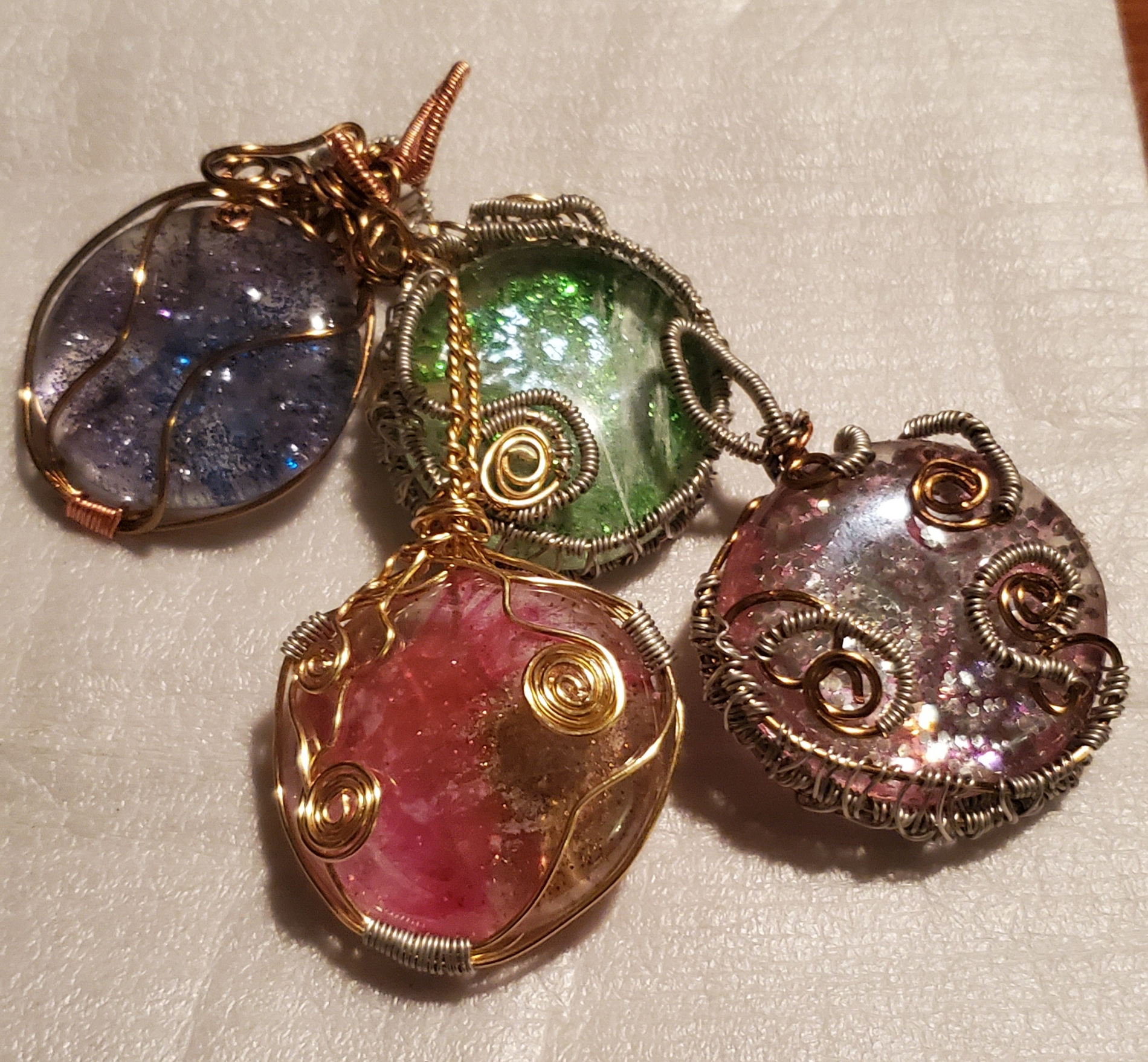 Glass Cabochon Pendents